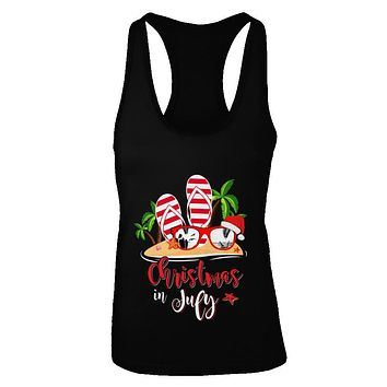 Flip Flop Sunglasses Christmas In July Summer Vacation Beach