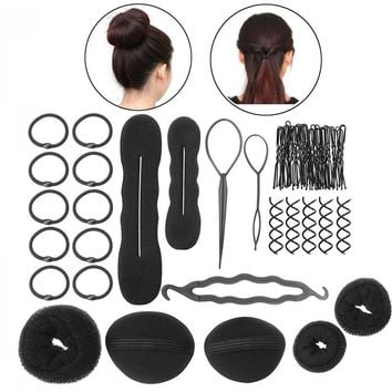 PIXNOR Women Girls DIY Hair Styling Accessories Kit Set