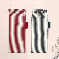Stripe medium drawstring pouch
