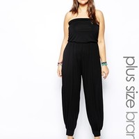 New Look Inspire Bandeau Jersey Jumpsuit at asos.com
