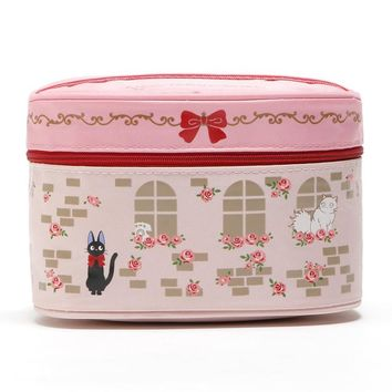 Cute Kiki's Delivery Service Cat Hello Kitty Cosmetic Bags for Women Makeup Storage Bag Toiletry Bag Beauty Case Make Up Box