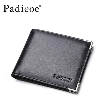 New Design Metal Wallet for Male Fashion Men's Business Purse High Quality Men Genuine Leather Card Holder