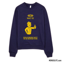 Vault Tec Slogan - Sweatshirt, Fallout, Video Game, Pip Boy
