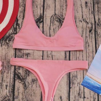 Hot sell sexy two-sided suit with a bikini