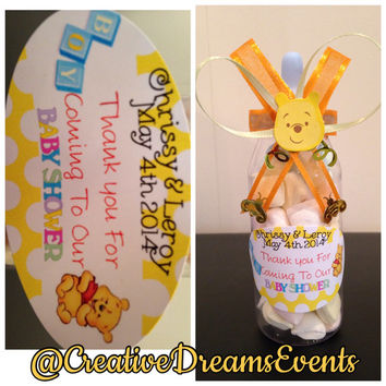 winnie the pooh baby shower bottle favors from creative dreams