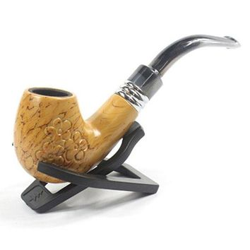 Fashionable Smoking Pipe Resin Carving Flower Tobacco Pipe
