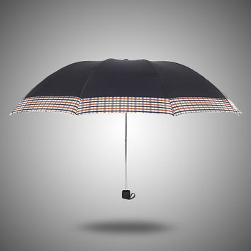 Design Strong Character Stylish Creative Plaid Umbrella [4918245956]