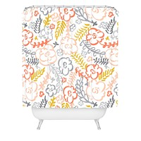 Heather Dutton Floral Brush Shower Curtain