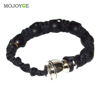 Portable Metal Bracelet Smoke Bracelet Bead Smoking Pipe Alloy+String Wristband Pipe for Smoking Jamaica Rasta Weed Pipe Handmad