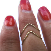 Knuckle Ring Set V Shape