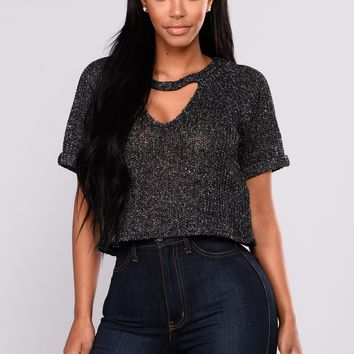 Tamryn Crop Top  - Black