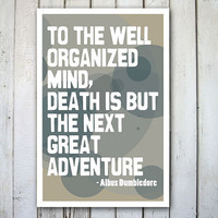 Harry Potter Poster Print Albus Dumbledore Quote by TheWallaroo