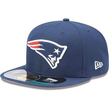 New Era Hat Cap NFL Football New England Patriots 6 5/8 59fifty Youth Sideline