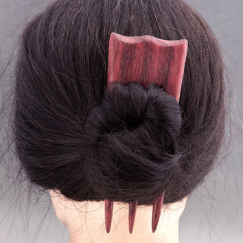PURPLEHEART Hair Fork - 3 Prong