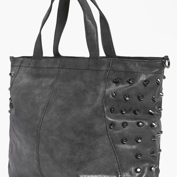 Lily Black Stud Detail Day Bag | Boohoo