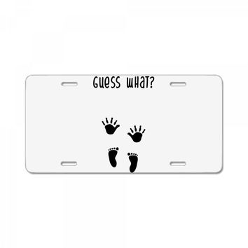 Guess What Baby Inside Pregnancy Announcement License Plate