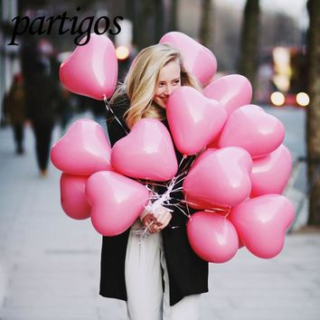 pink Heart Love Valentines Day inflatable balls
