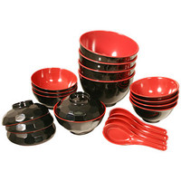 Red & Black Dish Set - AsianFoodGrocer.com | AsianFoodGrocer.com, Shirataki Noodles, Miso Soup