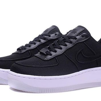 LMFON Nike Air Force 1 Low Upstep Br Black For Women Men Running Sport Casual Shoes Sneakers
