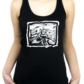 Sad & Lonely Depressed Ragdoll Women's Racer Back Tank Top Shirt