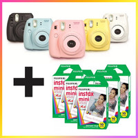Fujifilm Instax Mini 8 Instant Film Camera + 50 Pcs Film Bundle
