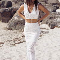 Roman Lace Skirt - Bottoms by Sabo Skirt