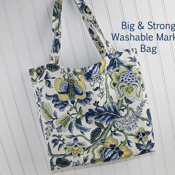 Large Market Bag, Farmers Market Bag, Washable Tote Bag, Beach Bag, Reusable Grocery Bag, MK101