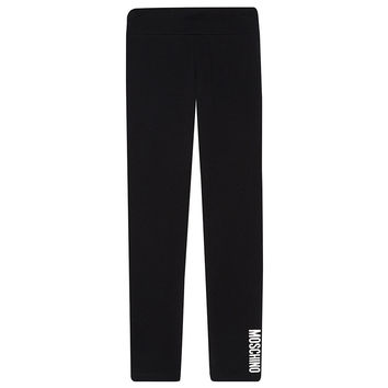 Moschino Girls Black Logo Leggings