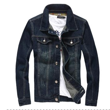 2017 denim jacket men college outwear jeans jacket and coats korean style M-5XL AYG114