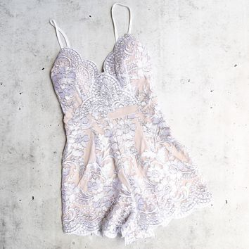 Dulce Embroidered Romper   More Colors