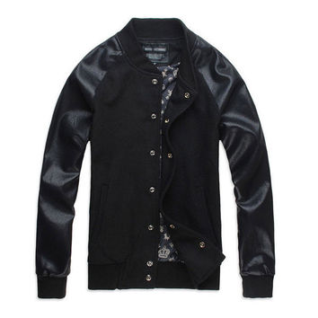 Mens Casual Sports Letterman Jacket