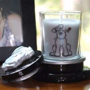 Zen Scented Schnauzer Candle Holder and Snuffer