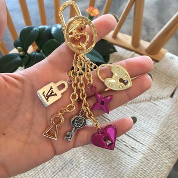 Louis Vuitton Lv Accessories More Love Lock Heart And Keys Bag Charm And Key Holder  M67438 - Best Online Sale