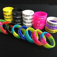 E-XY Newest Non-Skid MOD Silicone Ring Electronic Cigarette Silicon Vape Ring For Mechanical Mods E Cig Silicone Rings