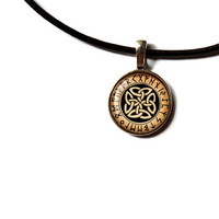 Irish necklace Celtic knot pendant Pagan jewelry NW241