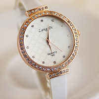 Comfortable Vintage Fashion Quartz Classic Watch Round Ladies Women Men wristwatch On Sales = 4662249540