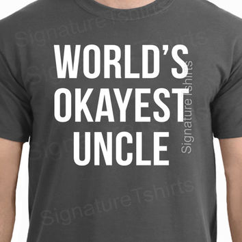Funny Uncle T Shirt Men T-shirt Gifts for New Uncles Baby Shower Reveal Pregnancy Announcement Holiday Present Brother uncle to be