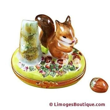 Squirrel With Acorn Limoges Boxes