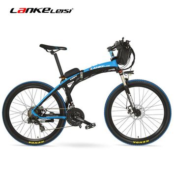 GP-D 26'' 500W/240W E Bike Quick-Folding Mountain Bicycle, 48V 12Ah Battery Electric Bike, Suspension Fork,Both Disc Brake