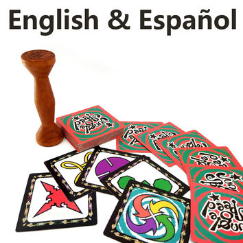 English&Spanish Jungle Speed board game cards for family party kids table playing 2 to 80 players cloth bag package VIP