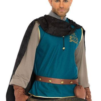 VONE5FW 4PC.Storybook Prince,shirt,cape,studded belt,and gloves in MULTICOLOR