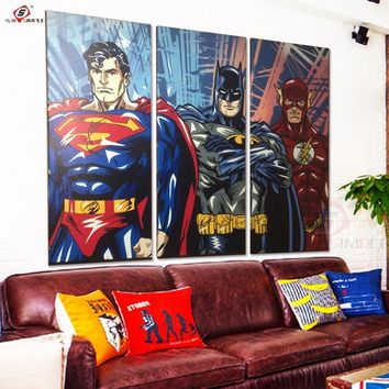 Superheroes 3 Piece Canvas