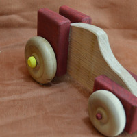 Red Dragster, Wood Car, Red Car, Red Wooden Car