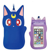 Sailor Moon Drip-Proof Pouch for Smartphone (Luna)