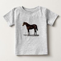 Brown Horse Baby T-Shirt