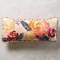 Watercolor Floral Pillow by Anthropologie Multi 12 X 27 Pillows