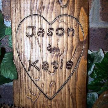 Personalized Couples Name Signs CARVED Custom by Lovejoystore