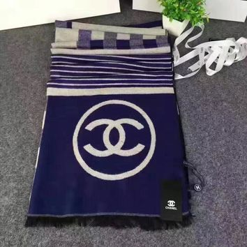 Chanel Women Fashion Cashmere Warm Scarf Scarves-7