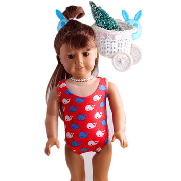 Hot selling popular 18 inch American girl doll clothes and accessories swimsuit Handmade suit dress b487
