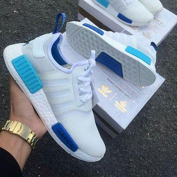 """Best Online Sale Adidas NMD R1 Blue Glow City Pack """"Sao Paulo"""" S75235 -01 Boost Sport"""